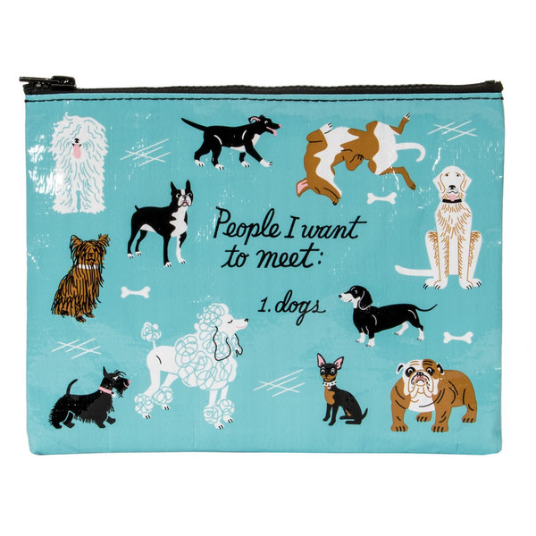 Blue Q Pouch - People To Meet: Dogs