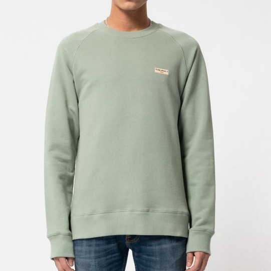 NUDIE Samuel Logo - Pale Green